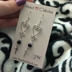 Very cute earrings Never worn, purchased from an art show. Brighton Jewelry Earrings