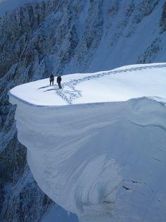 cresta di rochefort monte bianco (mont blanc) - Western Italian Alps, Monte Bianco, Courmayeur, region of Valle D'aosta , Italy