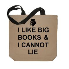 I Like Big Books And I Cannot Lie Funny Cotton Canvas Tote Bag - Eco Friendly in Natural / Black. $14.50, via Etsy.