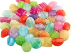 Assorted Colors and sizes Glass Beads on https://beadsinbulk.com/product/b_semi_color_mix_glass_beads_various_colors_various_shapes_one_pound_bag_is-mix-500