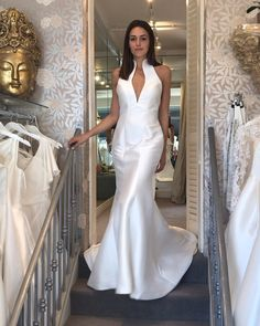 """Mirror Mirror Bridal Boutique on Instagram: """"We are loving our Nicole Milano collection💕 This little beauty is so elegant in a soft zibeline and looks great from every angle. Book in…"""" We Are Love, Our Love, Mirror Mirror Bridal, Bridal Boutique, Looks Great, Elegant, Wedding Dresses, Book, Beauty"""