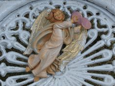 Vintage Made in Italy Angel Ornament or Figure, Holding Cymbals