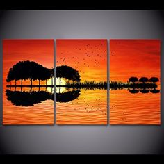 "framed canvas Wall ready to hang pictures print guitar tree lake sunset home garden Living Room room Decor Beautiful gift holiday for kids toys boys&girls Excellent quality   	 		 			 				 					Famous Words of Inspiration...""Anyone who is capable of getting themselves made President... more details available at https://perfect-gifts.bestselleroutlets.com/gifts-for-holidays/home-kitchen/product-review-for-framed-canvas-wall-ready-to-hang-pictures-print-guitar-tree-la"