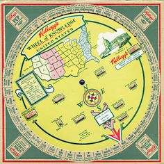 1931. Wheel of Knowledge: Interesting Facts About The United States. byA. Knapp. 家樂氏玉米片促銷贈品.