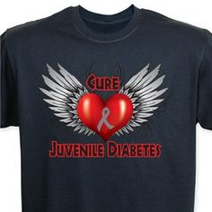 Cure Juvenile Diabetes. Wish I had one of these shirts.