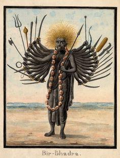 hinducosmos: Bir-bhadra A fierce male deity, possibly Virabhadra century. (via British Museum) Kali Goddess, Mother Goddess, Goddess Art, Tantra Art, Shiva Art, Shiva Hindu, India Art, Indian Art Paintings, Hindu Deities