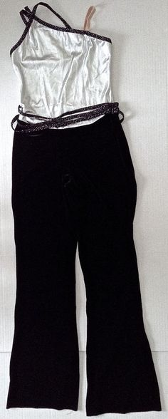 Curtain Call Velvet Metallic Dance Costume Jumpsuit Leotard Women Teen Size L #CurtainCall #UnitardBodysuit