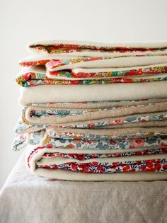 Molly's Sketchbook: Liberty and Wool Lap Duvets - Knitting Crochet Sewing Crafts Patterns and Ideas! - the purl bee