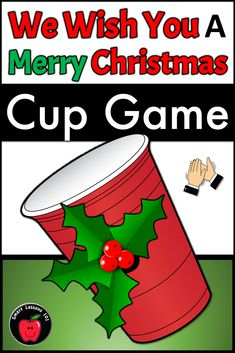 We Wish You a Merry Christmas Cup Passing Holiday Game - Hazel Christmas Cup, Christmas Concert, Christmas Music, Merry Christmas, Xmas Music, Christmas Games, Christmas Books, Christmas Activities, Elementary Music Lessons