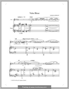 Valse Bleue by Angela Morley Printable Sheet Music, Digital Sheet Music, Blue