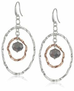 1AR by UnoAerre Fine Silver and 18kt Rose Gold Plated with Links and Beads Earrings 1AR by UnoAerre. $120.00. Made in Italy