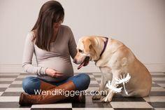 Burlington Iowa Maternity Pregnancy Session with Dog | Wendi Riggens Photography Blog - Burlington Iowa
