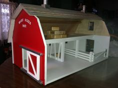 Children's toy wooden barn. $175.00, via Etsy.