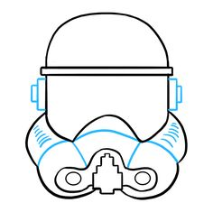 Learn to draw a stormtrooper helmet. This step-by-step tutorial makes it easy. Kids and beginners alike can now draw a great looking stormtrooper helmet. Learn To Draw, Disney Art, Easy Drawings, Helmet, Star Wars, Learning, Kids, Pen And Wash, Backgrounds