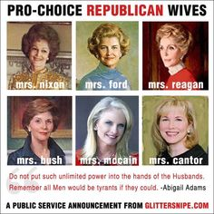 Pro Choice GOP wives