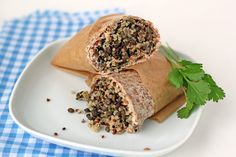 Whole grain quiona & lentil wrap. Perfect for easy lunches and quick dinners!