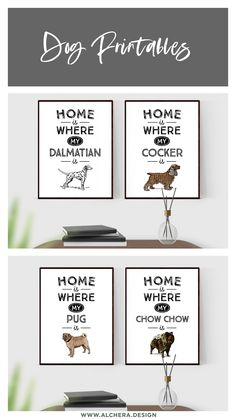 Pug Breed, Chow Chow, Dalmatian, Dog Life, Pugs, Dog Lovers, Place Card Holders, Printables, Chart
