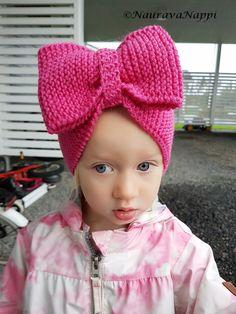 neulottu rusettipanta ohje drops merino Crochet Hats, Knitting, Diy, Fashion, Knitting Hats, Moda, Tricot, Bricolage, Fashion Styles