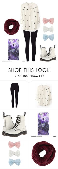 """""""boredem"""" by taaywhitee on Polyvore featuring Dr. Martens, Decree, BCBGMAXAZRIA, women's clothing, women, female, woman, misses and juniors"""