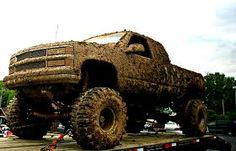 us country girls love our jacked up trucks all covered in mud. If they ain& in the mud here there in the mud there Jacked Up Trucks, Lifted Chevy, Cool Trucks, Chevy Trucks, Lifted Cars, Lifted Jeeps, Pickup Trucks, Redneck Trucks, Truck Memes