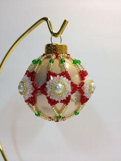 Beaded Star Christmas Bulb pattern $5.00