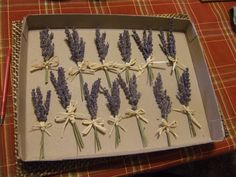 Dried Lavender boutinieres for the groomsmen and possibly immediate family?