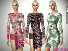The Sims Resource: 327 - Open Spring Dress With Zip by sims2fanbg • Sims 4 Downloads