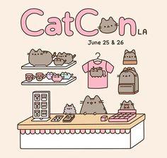 Imagem de cat and pusheen Chat Pusheen, Pusheen Love, Pusheen Shop, Chat Kawaii, Kawaii Art, Cute Kawaii Drawings, Cute Animal Drawings, Pusheen Stormy, Stickers Kawaii