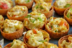 Crescent Bacon-Cheese Tartlets - Crescent Recipe Creations™ makes quick work of bite-size pastry cups filled with a classic flavor combination. Mini Pizzas, Bite Size Appetizers, Appetizer Recipes, Holiday Appetizers, Appetizer Buffet, Appetizer Ideas, Yummy Appetizers, Dinner Recipes, Croissant