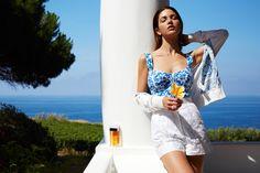 Dolce & Gabbana Silk Sweater with Majolica Print  Dolce & Gabbana Bermuda Shorts.