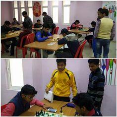 Chess competition at Galgotias boys hostel. #galgotiauniversityhostel