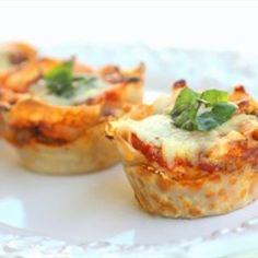 Lasagna Cupcakes Recipe | Just A Pinch Recipes