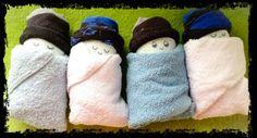 Pamper-doekjes - sokje baby cadeau Diaper baby gift