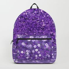 Ultra Violet Purple Glitter Backpack (6880 RSD) ❤ liked on Polyvore featuring bags, backpacks, violet bag, daypack bag, glitter backpack, purple backpack and glitter bag