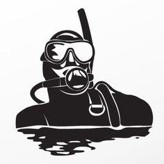 Scuba Snorkeling Sticker Decal Diving Logo, Scuba Diving, Scuba Tattoo, Tattoo Sleeve Designs, Sleeve Tattoos, Scuba Gear, Summer Patterns, Ocean Life, Snorkeling
