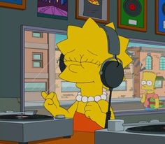 Sometimes you just have to drown out everything with a solid playlist and or your favorite bands. Music Cover Photos, Music Covers, Album Covers, Cartoon Icons, Cartoon Memes, Cartoons, Simpsons Drawings, Simpson Wallpaper Iphone, Instagram Cartoon