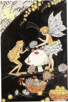 petitpoulailler:    indigodreams:mid 1920's Margaret Clark (English 1901-?) ~ The Florist Shop