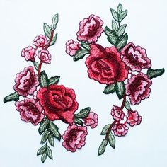 Great flower applique with red Peony.These are features a beautiful classic flower with delicate leafs and stems in an elegant and modern shape. One piece approx dimensions: 8.5 x 10 (21 cm x 25 cm) You will receive a PAIR appliques per order (2pcs in total) Slight variations are normal. Some patches will have some unnoticeable differences. All the lace are perfect for wedding dress, lingerie, bra, dresses, dolls, bridal veil, altered art, couture, costume, jewelry design, pillowcase, ho...