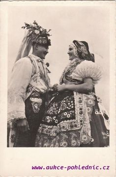 Šardičané Folk Costume, Costumes, Folk Clothing, European Countries, World Of Color, Vintage Pictures, Beautiful Patterns, Czech Republic, Old Things