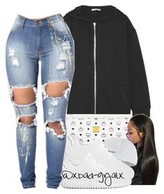 Draft by xbad-gyalx on Polyvore featuring polyvore fashion style T By Alexander Wang MCM NIKE clothing