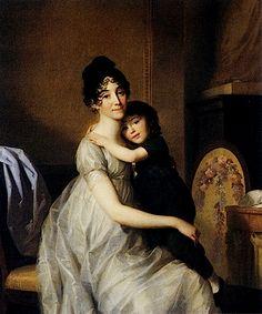 1802 Anne Pauline Dufour Ferance and Her Son by Friedrich Tischbein (Museumslandschaft Hessen Kassel, Kassel Germany)