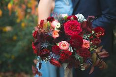 Gorgeous Burgundy Bouquet by Flowers by Semia ~ we ♥ this! moncheribridals.com