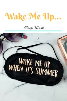 Use this mask to sleep well till summer :D