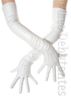 White Opera Leather Gloves