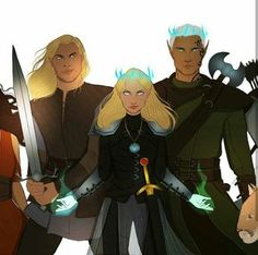 Aelin, Rowan, Aedion. THEIR CROWNS