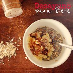 #Desayuno de #chia con #plátano y #avena #breakfast #omegas #completo #saludable #indulgent