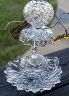Recycled Glass Bird Feeder