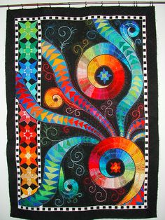 Claudia Pfeil Art Quilt:- Turnabout