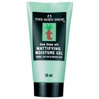 The Body Shop Tea Tree Oil Mattifying Moisture Gel --- I've looked all over their web site at TheBodyShop-USA.Com to find this, but it appears they no longer make it! Too bad! Makes me happy that last time I bought a set of two, BOGO. Otherwise I'd highly recommend it for keeping the shine away. Only caveat is that your skin needs to be totally clean and dry before application; You can't just throw it on when your face is already shiny or sweaty and expect it to work well.