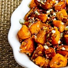 Kalyn's Kitchen®: Recipe for Roasted Butternut Squash with Rosemary, Pecans, and Gorgonzola Cheese